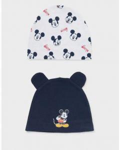 """Набір трикотажних шапочок """"Mickey Mouse"""" для дитини 2шт."""
