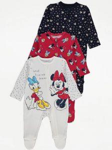 """Трикотажний чоловічок для дівчинки """"Disney"""" 1 шт. (білий з принтом)"""