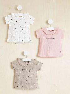 Брендова футболка в рубчик для дівчинки 1шт.(біла)