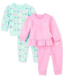 Комплект-двійка з легкою махровою ниткою для дівчинки 1шт.(рожевий)