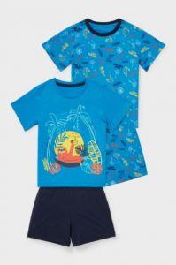 Піжама з органічної бавовни 1шт. (блакитна футболка і сині шорти)