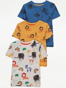 Трикотажна футболка для хлопчика 1шт.(синя з принтом)