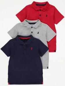 Трикотажна футболка-поло для хлопчика 1шт., (червона)
