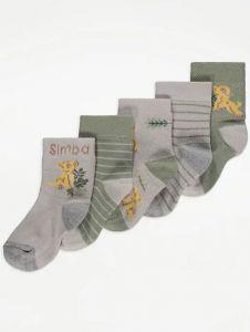 "Набір шкарпеток  ""The Lion King"" (5 пар) від George"