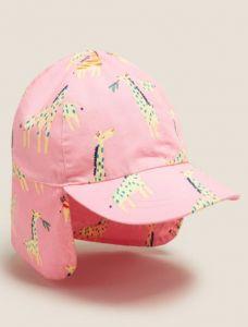 Бавовняна кепка-легіонерка для дівчинки