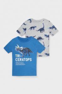 Трикотажна футболка для хлопчика з органічної бавовни 1шт. (сіра з принтом)