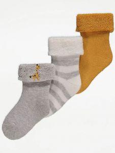 Набір шкарпеток (3 пари) з махровою ниткою для дитини