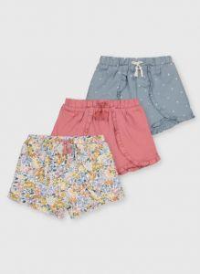 Літні шортики для дівчинки 1шт.(з квітковим принтом)