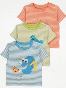 "Набір футболок для дитини ""Toy Story, Finding Nemo, Monsters, Inc."" (3шт.)"