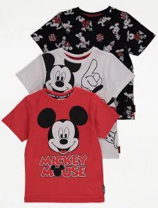 """Футболка """"Disney Mickey Mouse, Goofy and Donald Duck"""" для дитини (1 шт. чорна)"""