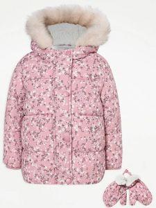 Тепла куртка з флісовою підкладкою для дівчинки