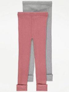 Теплі легінси тонкої в'язки для дівчинки 1шт.(рожеві)