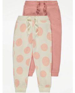Штани з флісом всередині для дівчинки 1шт. (рожеві)