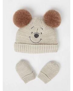 """Комплект (шапка+рукавички) """"Winnie the Pooh"""" для дитини"""
