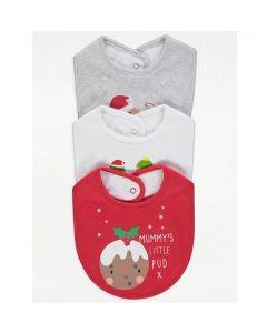 Набір новорічних слюнявчиків для малюка (3 шт.)