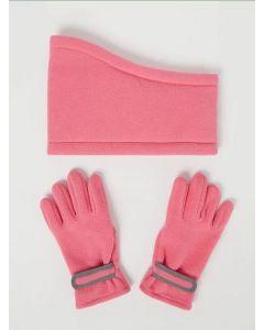 Флісовий комплект рукавички+снуд для дівчинки