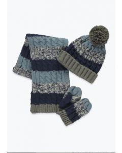 Комплект-трійка (шапка, шарф і рукавиці) для хлопчика