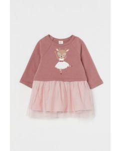 Трикотажна сукня з фатином для дівчинки від H&M