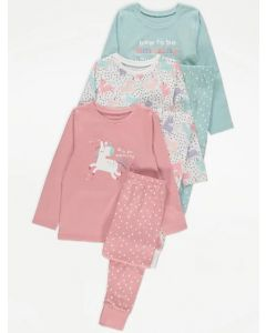 Трикотажна піжама для дівчинки 1шт. (пудрова)