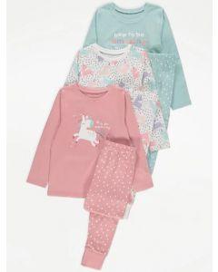 Трикотажна піжама для дівчинки 1шт. (блакитна)