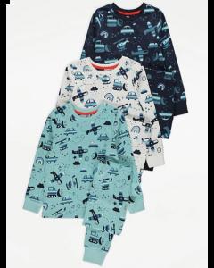 Трикотажна піжама для хлопчика 1шт. (темно-синя)