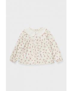 Бавовняна блуза для дівчинки