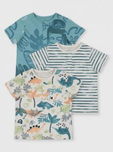Трикотажна футболка для хлопчика 1шт.(блакитна з принтом)