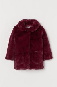 Пальто з штучного хутра для дівчинки