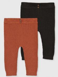 Трикотажні штанятка тонкої в'язки для дитини 1шт.(оранжеві)