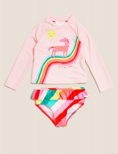 Комплект для плавання з захистом UPF 50+ для дівчинки
