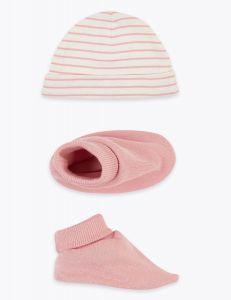 Комплект (шапочка і пінетки) для малюка
