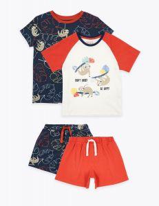 Піжама для хлопчика 1шт. (біла з червоними шортами) від Marks & Spencer