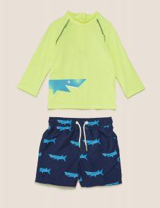 Комплект для плавання з захистом UPF 50+ для хлопчика