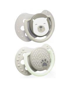 Силіконові динамічні соски Buddy Bear (0-3 м.)- 2 шт., Canpol LOVI 22/863