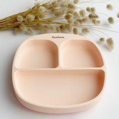 Силіконова  секційна тарілка , Soft Pink,Баловень