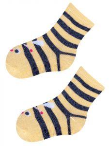 """Шкарпетки для дівчинки жовті """" бджілка"""", YOclub  SK-10"""