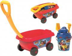 """Візок з набором для піску """"Mickey Mouse"""", 6 ел., Smoby 867003"""
