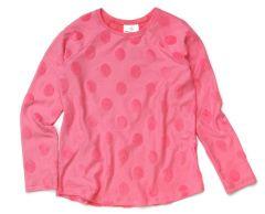 """Трикотажна кофта """"Рожеві круги"""" для дівчинки, 9780"""