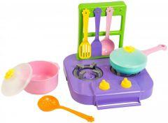 """Набір посуду столовий """"Ромашка"""" з плиткою 7 ел.(фіолетовий), Tigres 39150"""