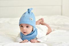 "Набір ""Тобі"" для хлопчика, голубий  (шапка та хомут), 20.04.018"
