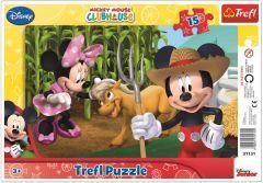 """Пазли рамкові """"Клуб друзів  Mickey Mouse, на селі"""", Trefl 31131"""