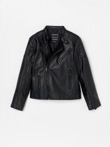 Стильна куртка зі штучної шкіри
