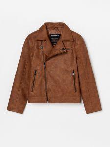 Стильная куртка из искусственной кожи