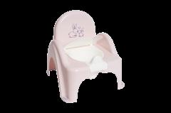 """Дитячий горщик """"Зайчики"""" з протиковзкою гумкою рожевий, KR-012-104 Tega baby"""