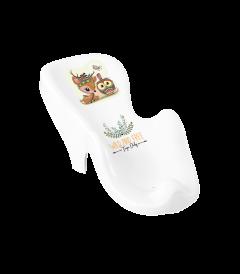 """Гірка для купання антиковзаюча """"Оленя"""" (біла), DZ-003-103 Tega baby"""