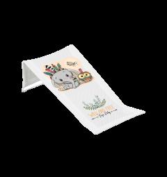 """Лежак для купання """"Слоник"""" білий, DZ-026-103 Tega baby"""